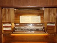 Spieltisch der Weigle-Orgel 2014