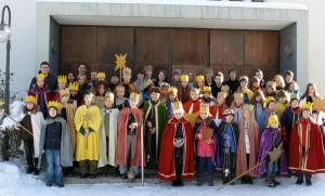 Die Sternsinger der Salvatorgemeinde im Januar 2011