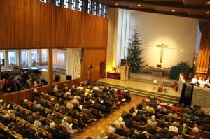 Weihnachtsgottesdienst 2012 in der erweiterten Stephanuskirche