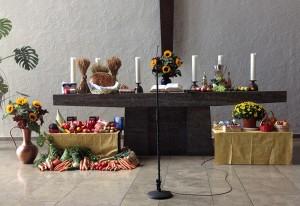Erntedank Altar in Stephanus