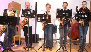 "ie musikalisch jüngste Gruppe des ""Solitude-Saxophon-Ensembles"""