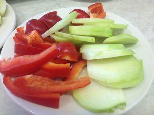 Gemüsestreifen