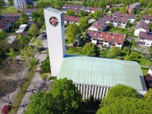 Luftbildaufnahme Stephanuskirche 10. Mai 2017